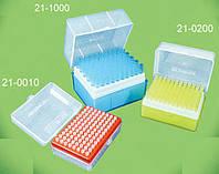 Наконечники для пипеток, 200 мкл, стерильные, желтые, 96 шт. в штативе
