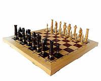 Большие шахматы Дубовые Роял Люкс С-104 D с резными фигурами