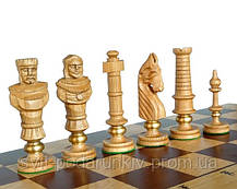 Элитные большие шахматы Дубовые Роял Люкс С-104 D с красивыми фигурами, фото 2