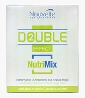 Nouvelle Nutrimix Оживляющее средство для волос в ампулах Double Effect Для сухих и поврежденных волос с Кератином и Хмелем 10 мл 10амп