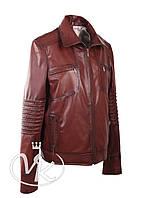 Коричневая кожаная куртка мужская, фото 1