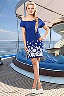 Эффектное платье с морской тематикой