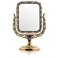 Зеркало для макияжа настольное №825 позолоченое