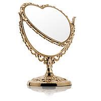 Зеркало для макияжа настольное №810 в форме сердце