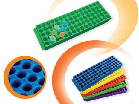Стойка для микропробирок, полипропилен, 80 отверстий