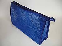 Косметичка клатч синяя №028(19-6)
