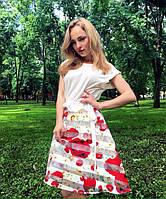 AMPL121-260-261 платье цвет молочный_принтованный