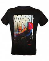 Стильная футболка LONDON WEST END BLACK черный