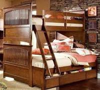 """Двухярусная кровать семейного типа """"Адлер""""с ящиками и бортиками"""