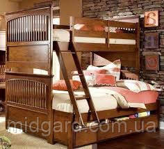 """Двухъярусная кровать семейного типа """"Адлер""""с ящиками и бортиками, фото 2"""