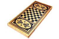 Набор 2 в 1 Нарды Шахматы из Бамбука 20 х 40 см