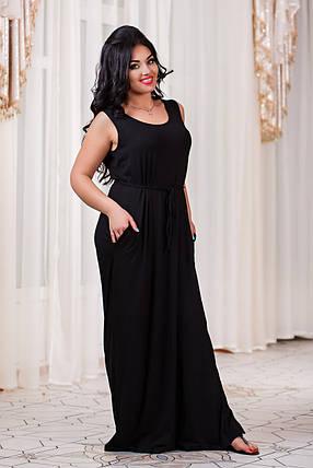 Д301 20 Платье длинное размеры 48-56 , фото 2