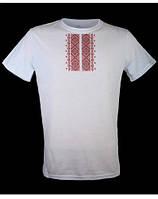 Мужская футболка с имитацией вышивки