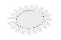 Дисплей-ромашка для лаков, гелей, овальный, прозрачный, на 48 оттенков