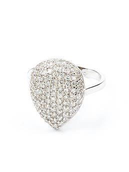 Кольцо с цирконием серебряное