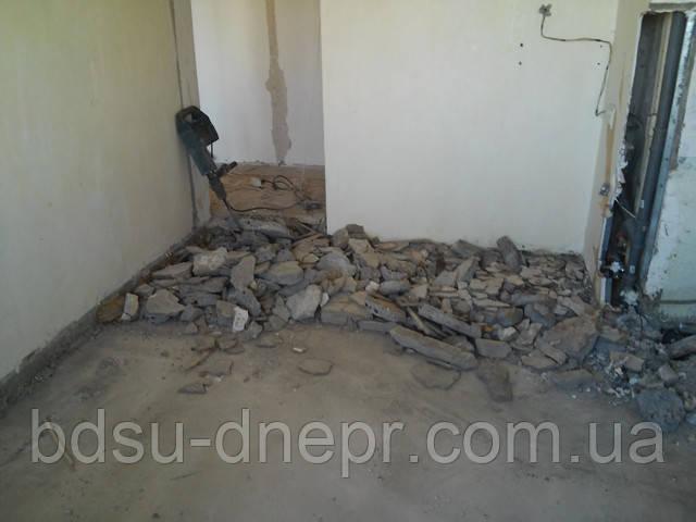 Демонтаж стяжки в Днепропетровске