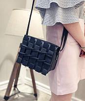 Уникальная молодежная сумка почтальон с плетением, фото 2