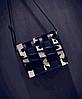 Уникальная молодежная сумка почтальон с плетением, фото 3