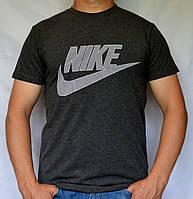 """Мужская футболка """"NIKE-16N01"""" антрацыт"""