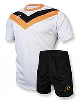 Футбольная форма игровая Europaw 004 (белый\оранжевый)