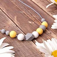 Слингобусы Фрезія гризунци ожерелье Love Carry ECO из пищевого силикона без запаха и вкуса, фото 1