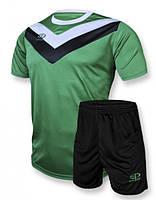 Футбольная форма игровая Europaw 004 (зеленый\черный) XS (140-155 см)