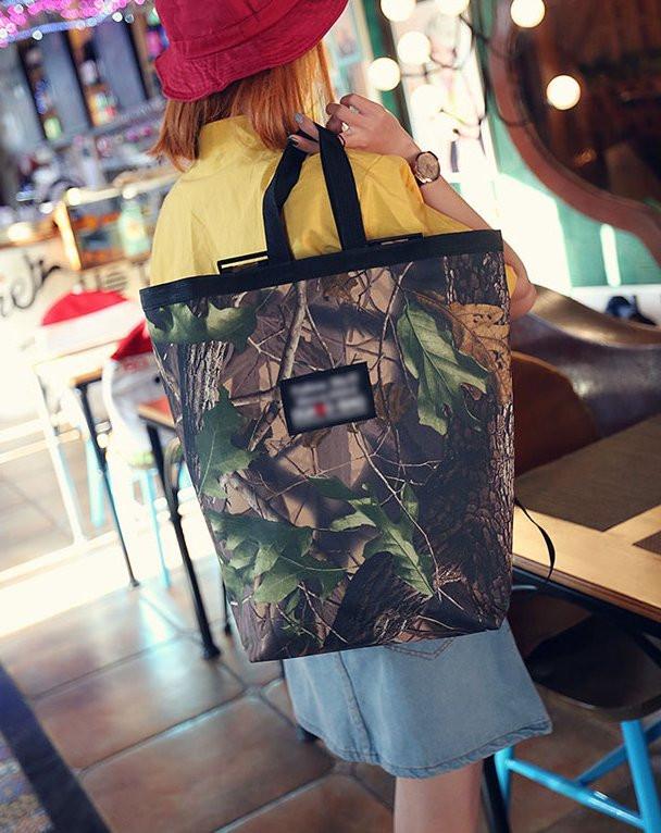 Большая сумка рюкзак трансформер с принтом природы