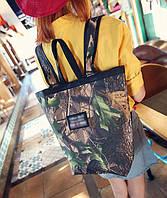 Большой рюкзак сумка трансформер с принтом природы