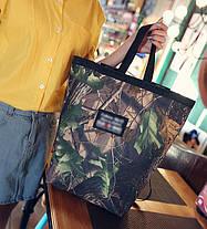 Большая сумка рюкзак трансформер с принтом природы, фото 2