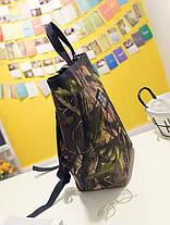 Большой рюкзак сумка трансформер с принтом природы, фото 3