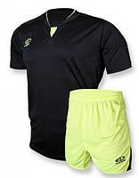 Футбольная форма игровая Europaw 005 (черный\салатовый)