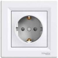 Розетка електрическая с заземлением (БЕЛЫЙ) ASFORA SCHNEIDER ELECTRIC EPH2900121