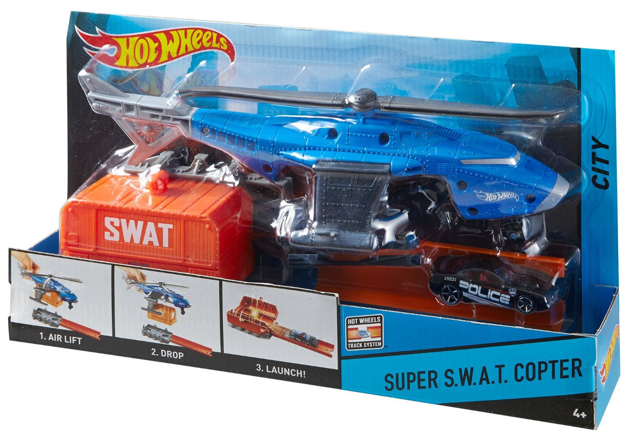 Вертолет Хот Вилс Hot Wheels Super S. W. A. T. Copter Vehicle