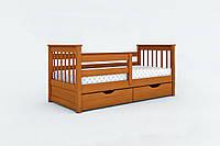 Кровать одноярусная Альбинос с ящиками массив дерева
