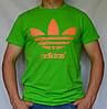 """Мужская футболка """"Adidas"""" A16-03 салатовый"""
