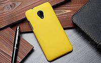 Пластиковый чехол для HTC Desire 700 жёлтый