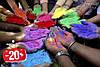 Натуральные порошковые краски Холи (Гулал), опт от 1 кг.