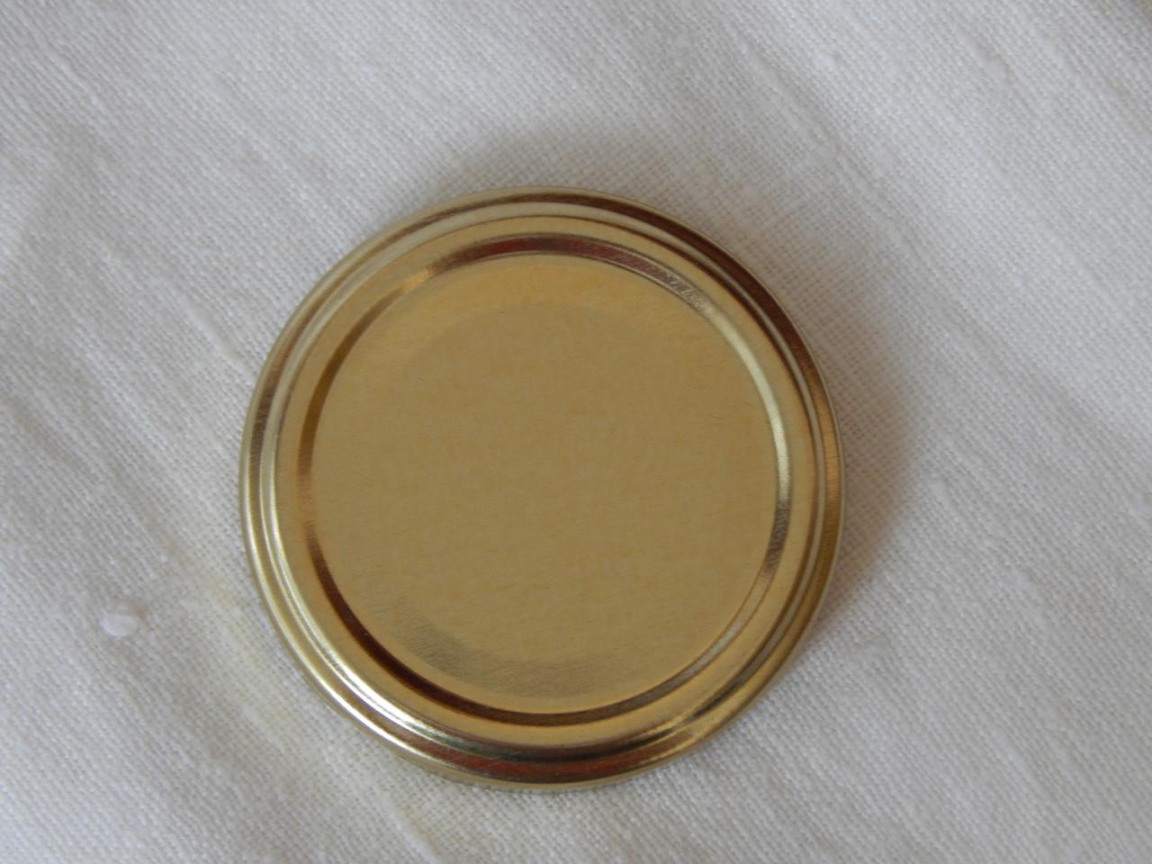 Крышка закаточная твист-офф размер 63 мм золото