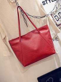 Вместительная сумка со змеиной мозаикой