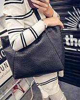 Вместительная сумка со змеиной мозаикой, фото 3