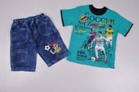 Костюм для мальчика (футболка трикотажная+шорты) YUVACI Роста в наличии : 104,110,116 арт.200182 (производство, фото 1