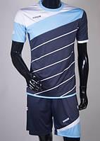 Футбольная форма игровая Europaw 008 (Dark blue\blue\white)
