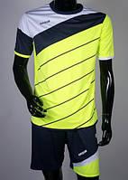 Футбольная форма игровая Europaw 008 (lime\white\dark blue)