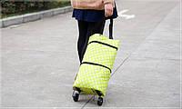 Практичная дорожная сумка на колесах, для покупок