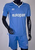 Футбольная форма игровая Europaw 009 (синий\белый), фото 1