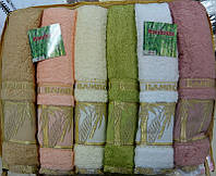 M009216 Набор из 6-ти полотенец hanibaba бамбук Bamboo naturale 70x140