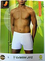 Nusa m010763 трусы шорты, бамбук 90%, lycka 10% 1213 белый s, m, l, xl, 2xl, 3xl