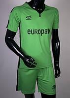 Футбольная форма игровая Europaw 009 (зеленый\черный) XS (140-155 см)