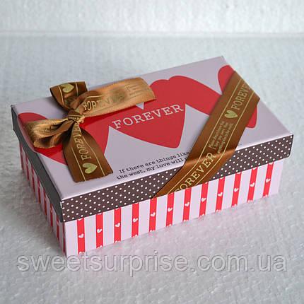 Прямоугольная подарочная коробка  (сердца) (мини), фото 2