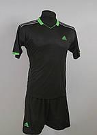 Футбольная форма игровая Adidas Black (Адидас Черная)